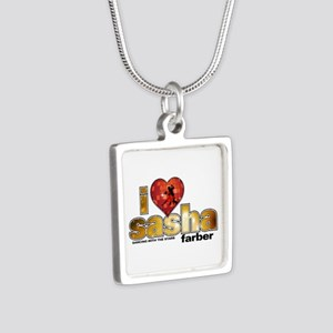 I Heart Sasha Farber Silver Square Necklace