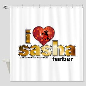 I Heart Sasha Farber Shower Curtain