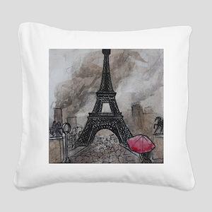 Industrial Paris Square Canvas Pillow