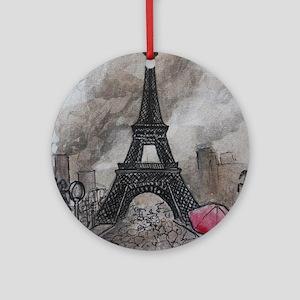 Industrial Paris Round Ornament