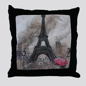 Industrial Paris Throw Pillow