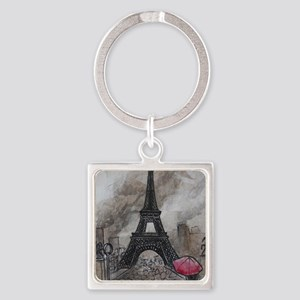 Industrial Paris Square Keychain
