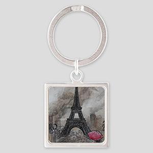Industrial Paris Square Keychain