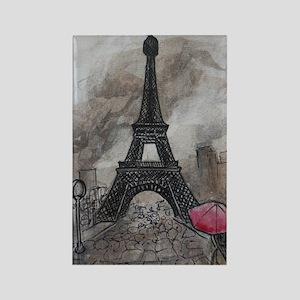 Industrial Paris Rectangle Magnet