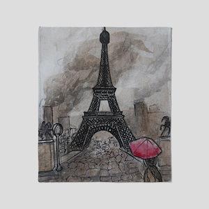 Industrial Paris Throw Blanket