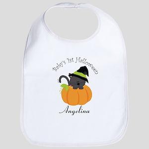 Personalized 1st Halloween Bib