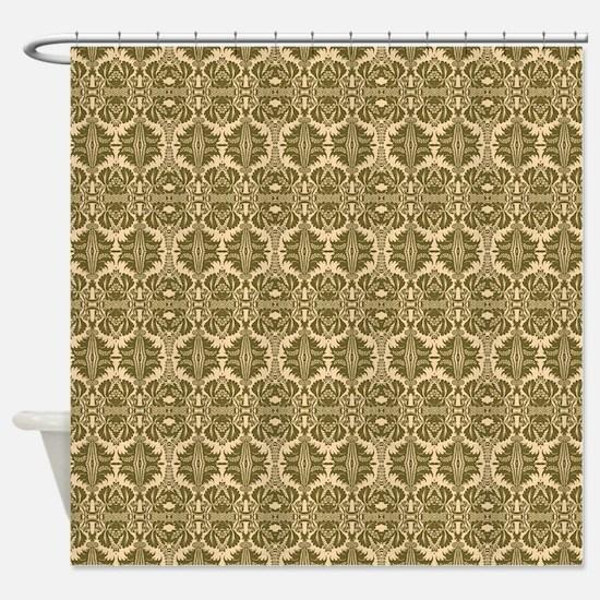 Elegant Vintage Gold Shower Curtain