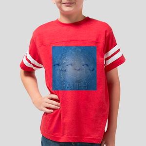 3-water faith feet Youth Football Shirt
