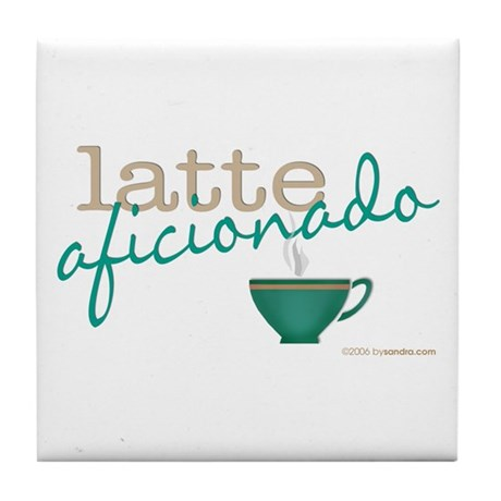 Latte Aficionado Tile Coaster