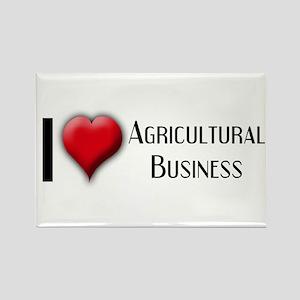 I Love (Heart) Agricultural B Rectangle Magnet