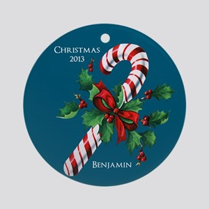 Personalized Candy Cane Christmas Ornament
