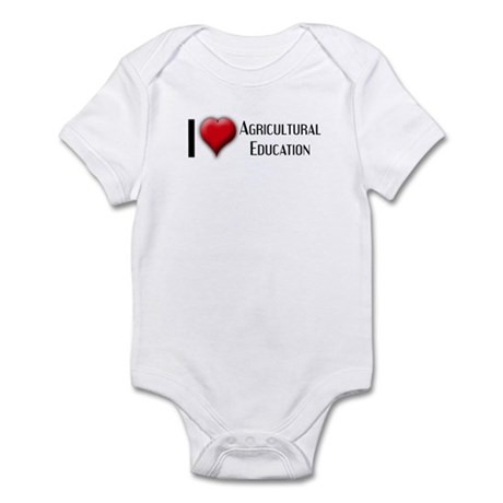 I Love (Heart) Agricultural E Infant Bodysuit