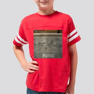 pwned (body outline) Youth Football Shirt