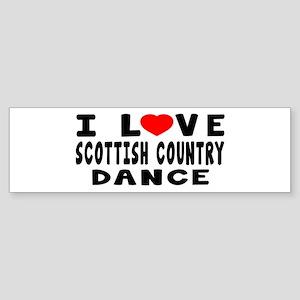 I Love Scottish Country Sticker (Bumper)
