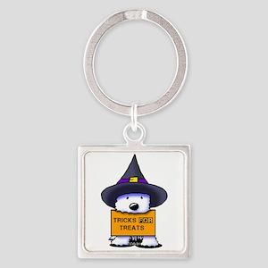 TFT Westie Witch Square Keychain