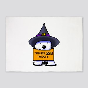 TFT Westie Witch 5'x7'Area Rug
