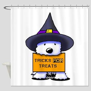 TFT Westie Witch Shower Curtain