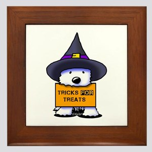 TFT Westie Witch Framed Tile