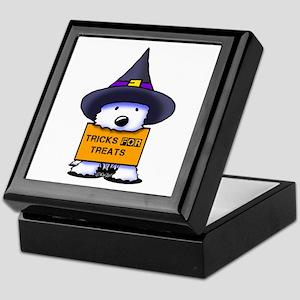TFT Westie Witch Keepsake Box
