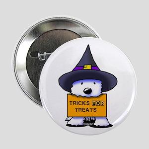 """TFT Westie Witch 2.25"""" Button"""