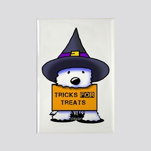 TFT Westie Witch Rectangle Magnet
