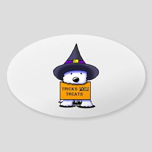 TFT Westie Witch Sticker (Oval)