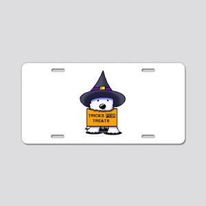 TFT Westie Witch Aluminum License Plate
