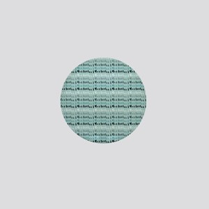 Cool Breeze Blue Abstract Mini Button
