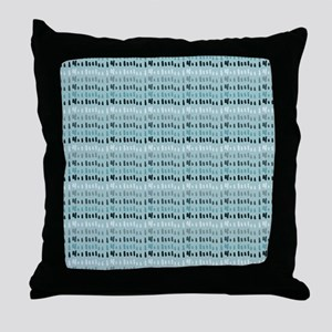 Cool Breeze Blue Abstract Throw Pillow