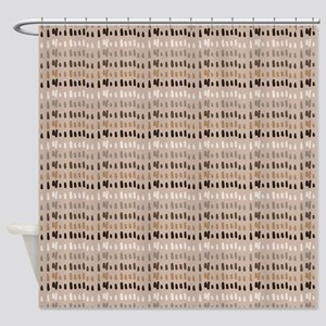 Coffee and Cream Abstract Shower Curtain