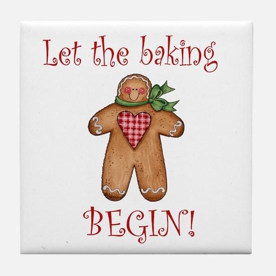 Let the Christmas baking begi Tile Coaster