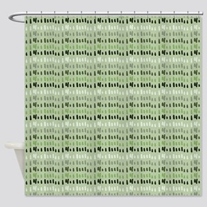 Earthy Green Abstract Shower Curtain