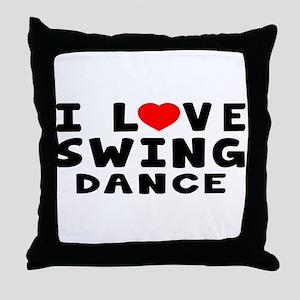 I Love Swing Throw Pillow