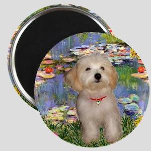 Lilies & Havanese Pup Magnet