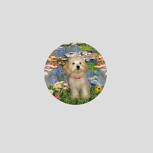 Lilies & Havanese Pup Mini Button