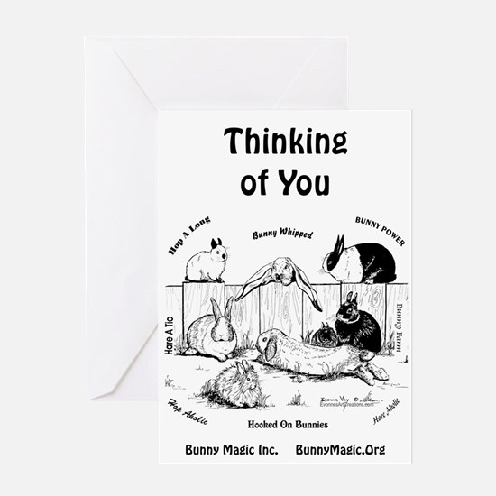 Bunny Thinking of You Greeting Cards