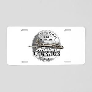 B-36 Peacemaker Bomber Aluminum License Plate