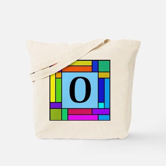 Pop Art Color Block Monogrammed Tote Bag