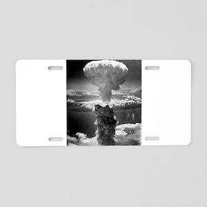 Atomic Bomb Aluminum License Plate