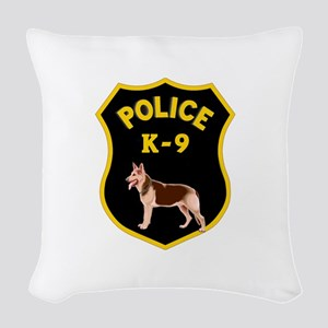 K9 Police Officers Woven Throw Pillow