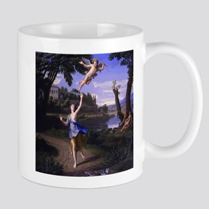 Colombel Cupid and Psyche love peace and joy Mugs