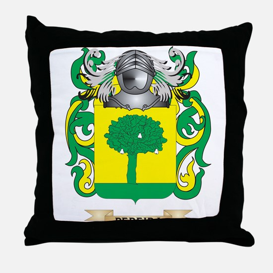 Pereira Coat of Arms (Family Crest) Throw Pillow