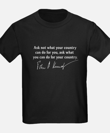 JFK Inaugural Quote T