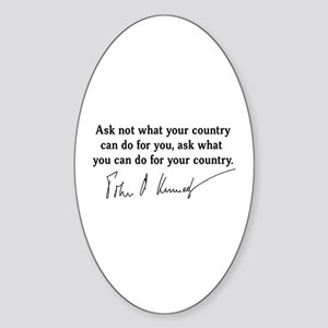 JFK Inaugural Quote Sticker (Oval)