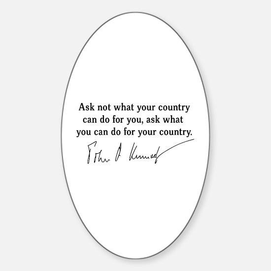 JFK Inaugural Quote Sticker (Oval)