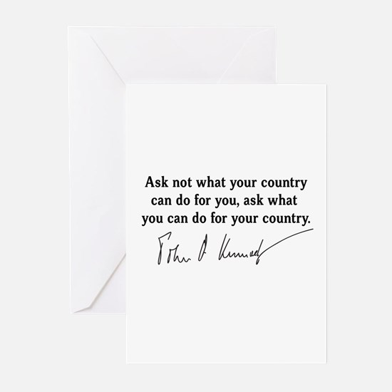 JFK Inaugural Quote Greeting Cards (Pk of 10)