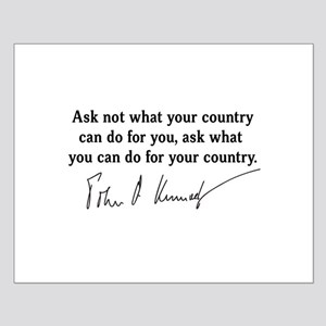 JFK Inaugural Quote Small Poster