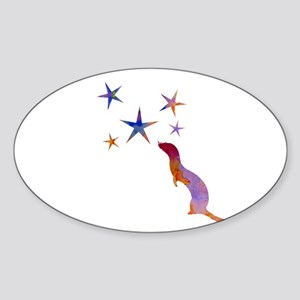 Ferret and stars Sticker