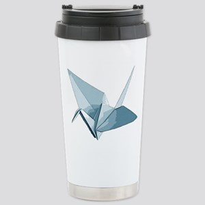 Blue origami crane Stainless Steel Travel Mug