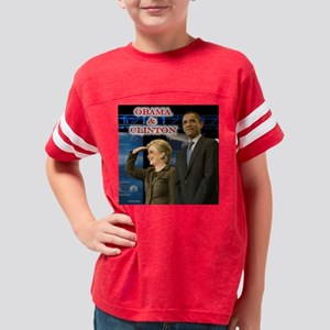 Clinton+Obama-16X16 Youth Football Shirt